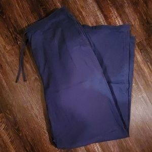 Coldwater Creek Cotton Twill long drawstring pants